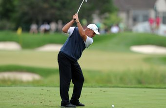 As Rocco Mediate demonstrates golfers need straight, but not tense, left arms.