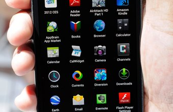 The Apps screen on Android-powered smartphones enables users to manage their applications.