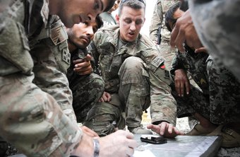 U.S. Army soldiers at work in Afghanistan
