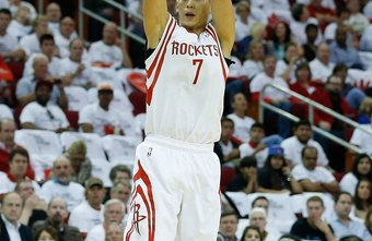 Correct foot positioning helps players such as Houston's Jeremy Lin shoot accurate jumpers.