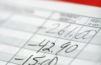 A bookkeeping ledger helps you monitor outgo.