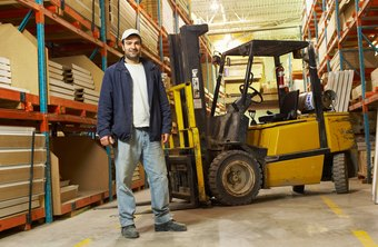 Employees need certification to operate a forklift.