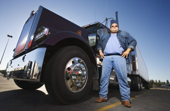 Long-haul truckers drive heavy trucks across the country.