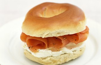 A bagel and lox is one breakfast option on the Food Lover's Diet.