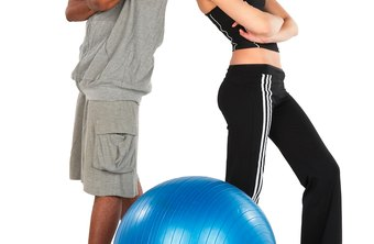 There are a variety of Swiss ball exercises that can help tone and tighten your butt.