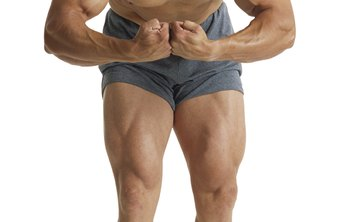 Bodybuilders' forearms should start to thicken just above the wrist.