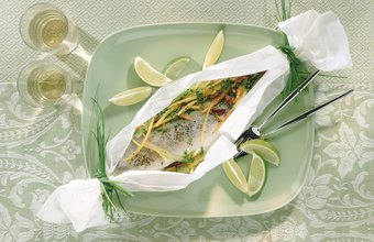 Parchment paper makes a beautiful presentation for tilapia.