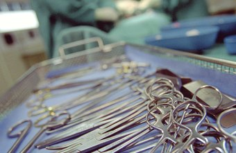 Surgical instruments must be sterilized before a doctor touches them.