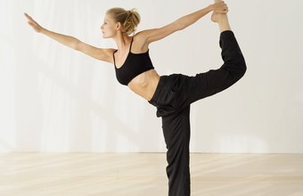 Dancer's pose helps decompress the spine.