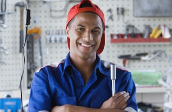 Auto mechanics work in well-lit and well-ventilated shops.