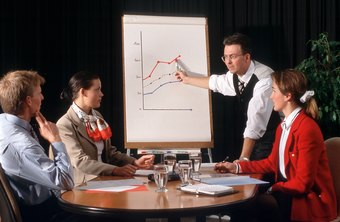 Business people often use charts, such as demand and supply curves, in meetings.