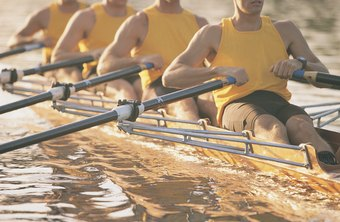 Each rowing stroke is initiated by pushing off with your legs.