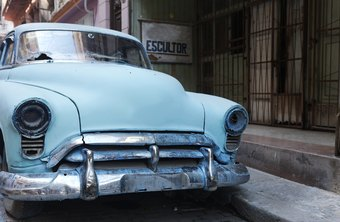 Soda blasting is a popular way to strip paint from cars before restoration.