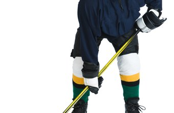 Hockey sticks come in a variety of materials, lengths, blade angles and curves.