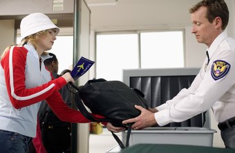 Entry-level security workers may scan visitors' bags.