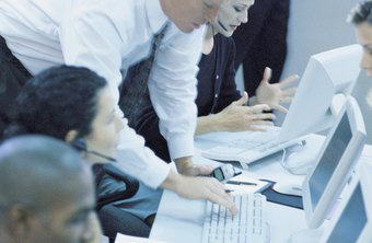 Call center training team managers help improve agents' performance.