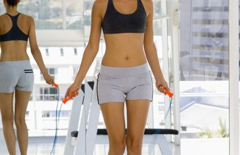 Jumping rope provides a vigorous workout in just 15 minutes.