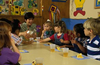 Routines, such as regular snack time, help keep preschoolers from acting out.