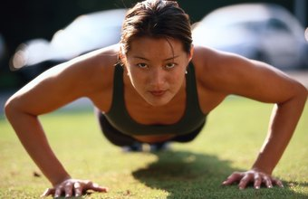 The chest, shoulders and triceps lift and lower your body during a pushup.