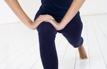The lunging hip stretch targets the hip flexors.