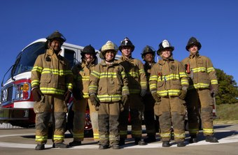 Firefighters lean how to work in teams.