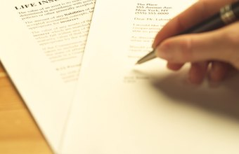 If you apply for life insurance, a claims examiner will review the paperwork.