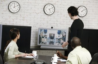 Skype enables you to use video conferencing to bring company personnel together.