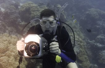Underwater photographers usually earn more the deeper they dive for pictures.