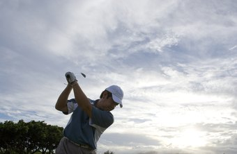 Golfers practice at driving ranges to improve their skills.