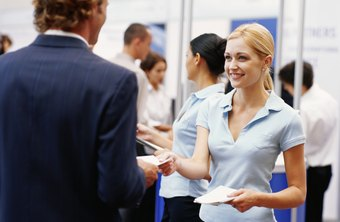Informal job offers are occasionally made at job fairs.