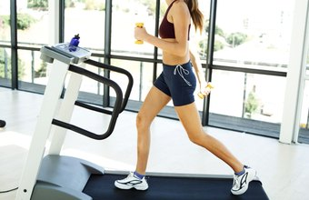Running on a treadmill provides a rapid calorie burn.