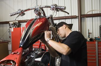 Motorcycle mechanics work on bikes full-time.