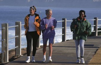 Walking with friends is a great motivator to get out and exercise.