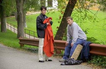 Social workers may bring clothing to the homeless.