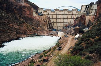 Civil engineers design and build large projects, such as dams and water systems.