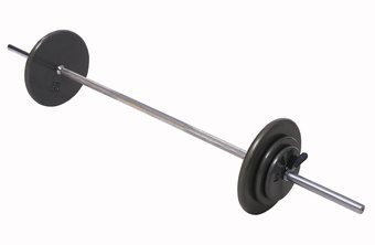 A standard barbell looks, feels and weighs different than an Olympic barbell.