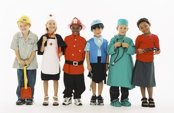 Preschool children can learn about different jobs that adults do.