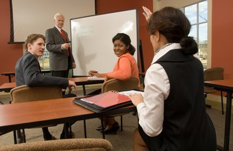 An employee development trainer provides skills training for other staff.