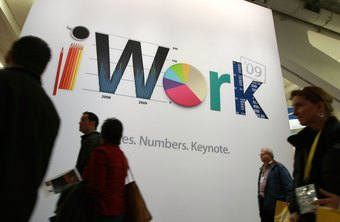 The iWork suite includes Keynote, Pages and Numbers.