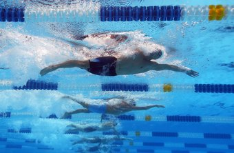 Keep your body straight when you're swimming the freestyle.