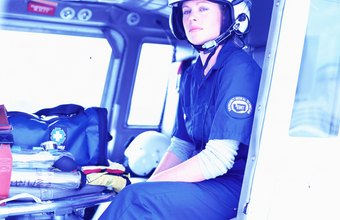 Flight nurses are highly trained critical-care nurses.