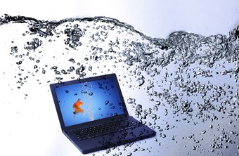 You may find signs of corrosion if your computer has been exposed to water.