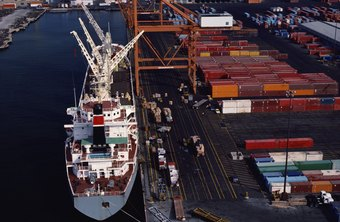 Container ships move raw materials and finished goods to apparel buyers around the world.