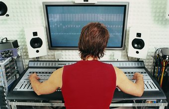 Music producers handle a variety of tasks behind the scenes and are hands-on with the music.