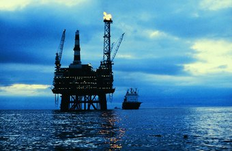 Working on an offshore drilling platform is one of the many types of jobs in the oil industry.