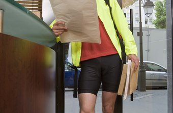 Bicycle messengers may deliver documents for legal, medical or financial services.