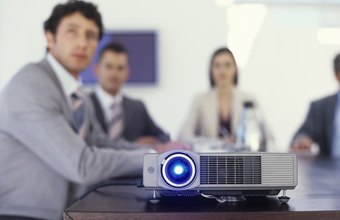 Your projector's VGA input delivers high-quality video for presentations.
