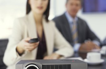 Connect your TV to a projector to enlarge your video presentations.