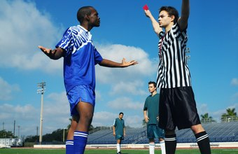 A soccer referee is the final arbiter of the game.
