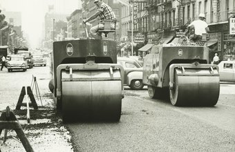 Steamrollers have long been used to pack down asphalt after its application.